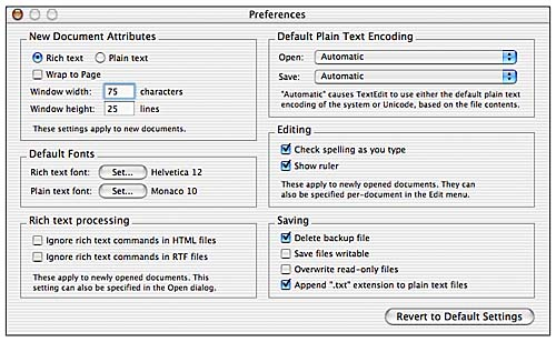 TextEdit | Basic OS X Applications for Productivity and