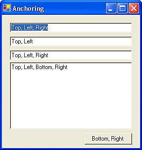 Configuring Your Form for Resizing   Building Windows Applications