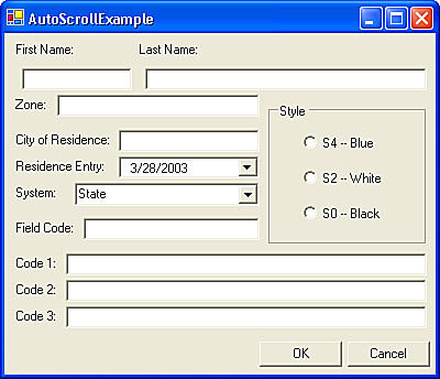 Configuring Your Form for Resizing | Building Windows Applications ...