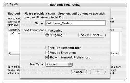 The Bluetooth Suite | Mac OS X Panther Applications and