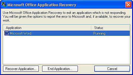 Using Word's Program and File Recovery Features | Essential