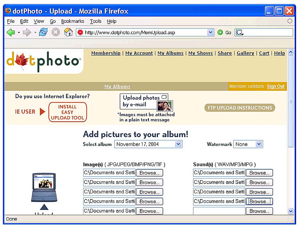 Project: Store Your Family Photos Online | Share and