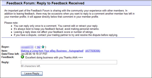 Dealing With Negative Feedback Absolute Beginner S Guide To Understanding And Using Feedback On Ebay Informit