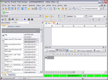 SQL Recall | Toad for Oracle Unleashed: Working with SQL