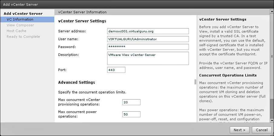 Configuring the View Connection Server | VMware View 5