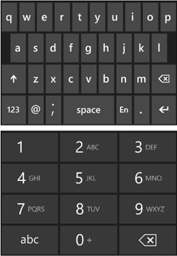 The On-Screen Keyboard | 101 Windows Phone 7 Apps: In Case of