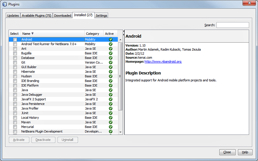 Plugging Android SDK into NetBeans | Configuring NetBeans and