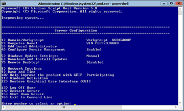 Managing and Configuring a Server Core Installation