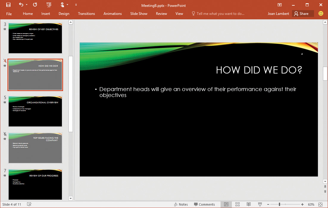 Create And Manage Slides In Microsoft PowerPoint 2016