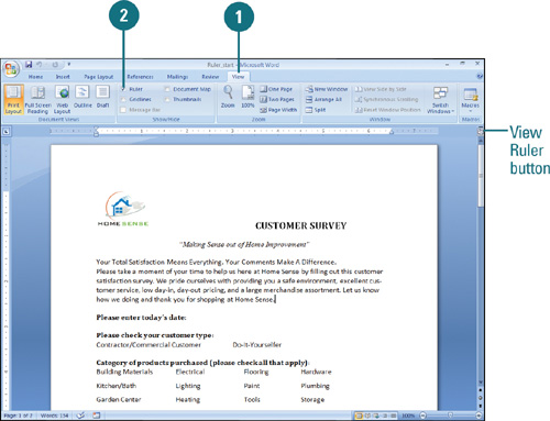 Displaying Rulers | Formatting Documents in Word 2007 | InformIT