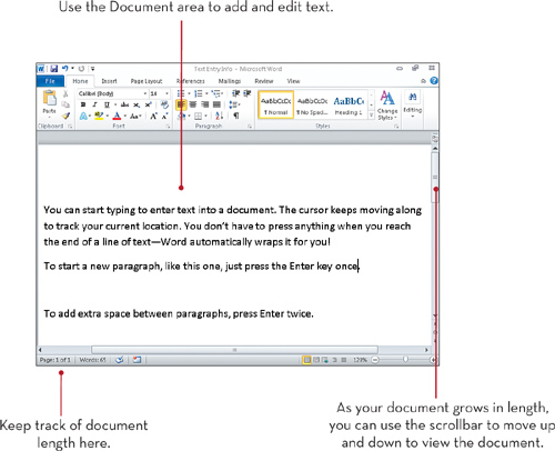 Entering Text in Word 2010 | Typing and Editing Text | InformIT