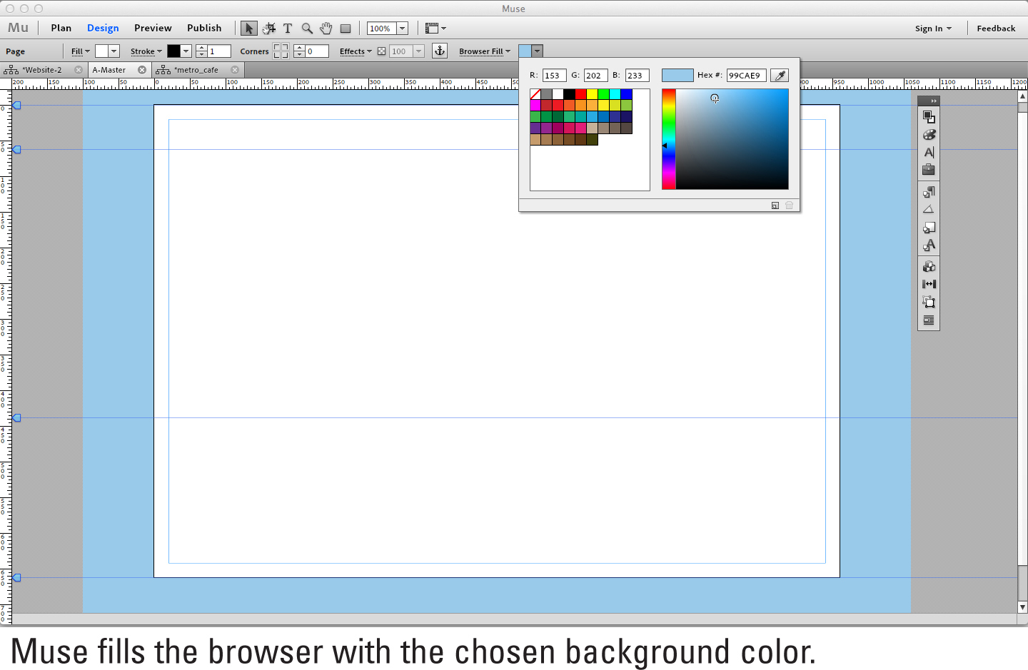 Filling The Browser With A Background Color