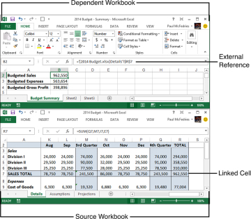Working with Links in Formulas | Building Basic Formulas in Excel ...