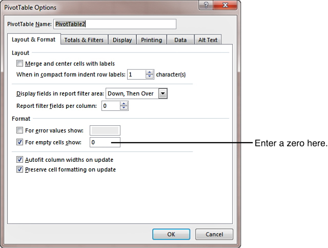 Customizing an Excel 2013 Pivot Table   Making Common