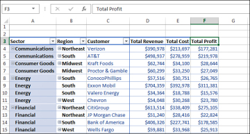 Making Report Layout Changes | Customizing an Excel 2013 Pivot ...