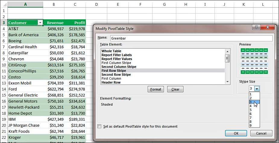 Customizing the Pivot Table Appearance with Styles and