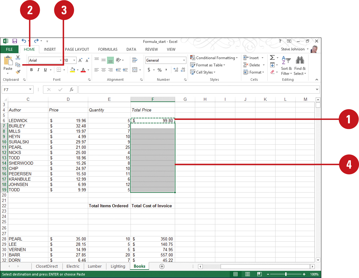 Editing a Formula   Working with Formulas and Functions in Excel ...