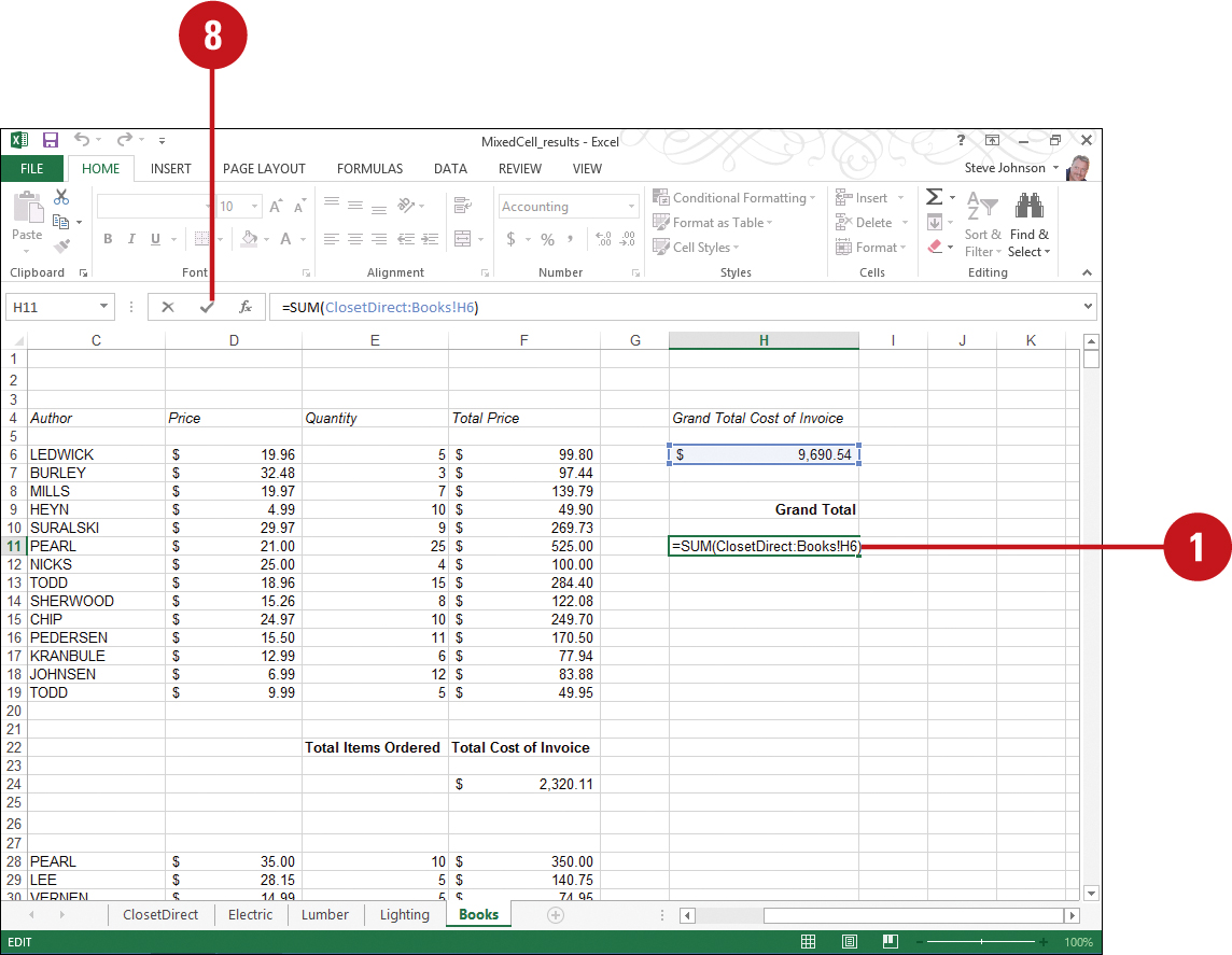 Using 20 D Cell References   Working with Formulas and Functions in ...