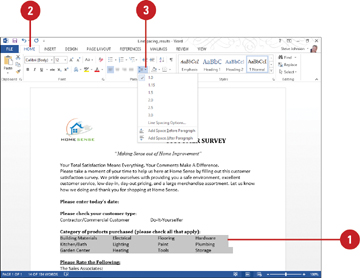 Changing Line Spacing Formatting Document In Word 2013 Informit Apa Dissertation 15 Space