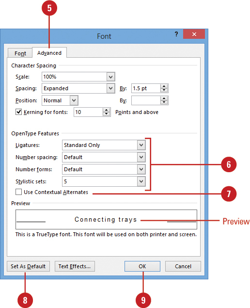 Changing Character Spacing Formatting Doents In Word 2018 Informit - How To Edit Table Spacing In Word