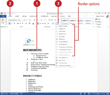 Applying borders and shading formatting documents in word 2013 03 31f03wd27g ccuart