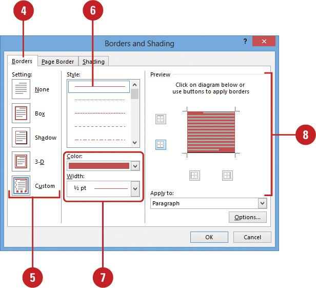 Applying borders and shading formatting documents in word 2013 applying borders and shading formatting documents in word 2013 informit ccuart Gallery