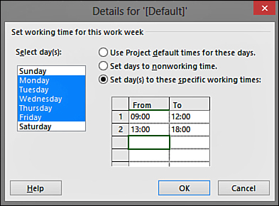 Setting Up Your Project's Calendars   Starting a Project in