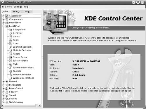 KDE Control Center | What's Your Preference? Customizing
