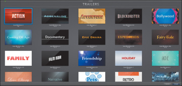 Selecting a Trailer Genre | Having Fun with iMovie Trailers | Peachpit
