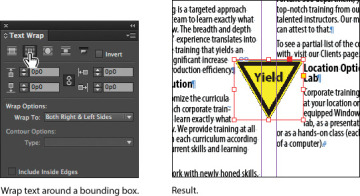 Wrapping text around a graphic working with objects in adobe 04fig47g publicscrutiny Choice Image