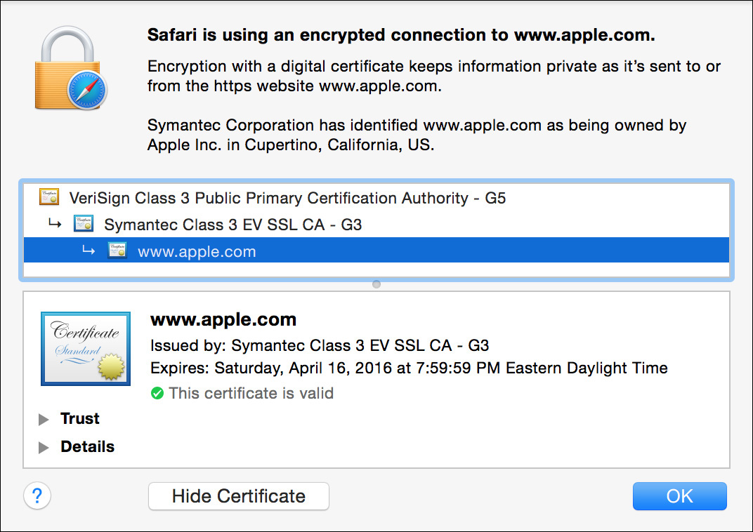 Reference 4 3 tls ssl certificates os x server for yosemite managing setup and ssl certificates peachpit