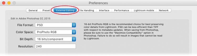 Setting up Lightroom and Photoshop for smooth integration
