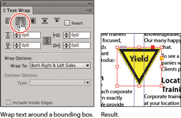 Wrapping text around a graphic working with objects in adobe 04fig51g publicscrutiny Choice Image