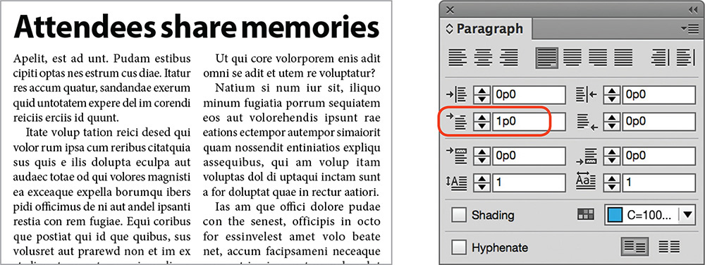 Paragraph Formatting Controls Designing A Magazine Layout