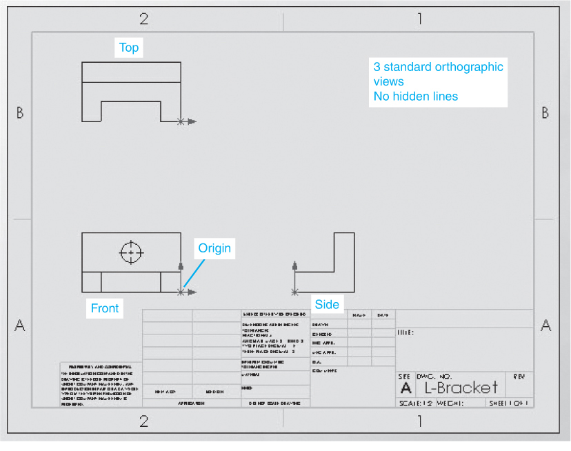 4-4 Drawing Orthographic Views Using SolidWorks