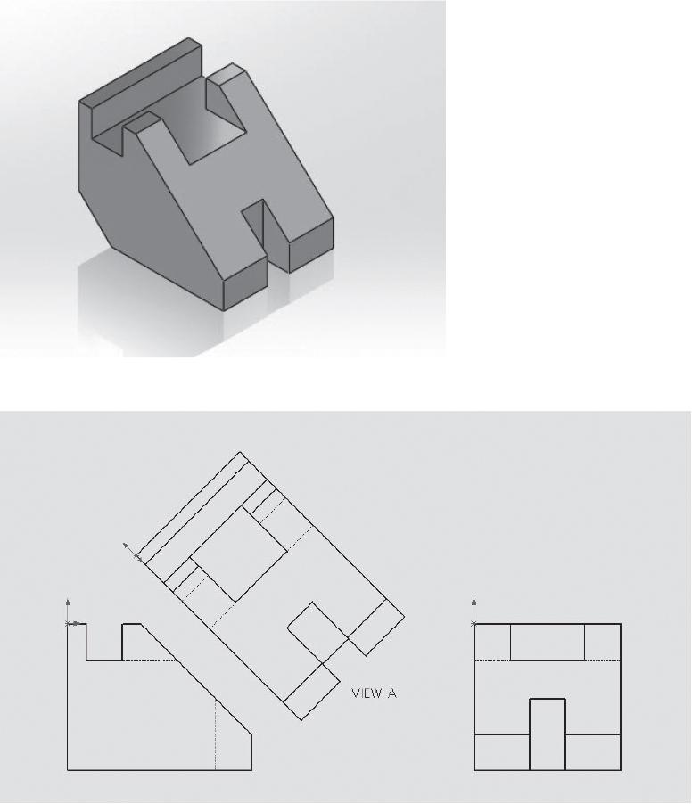 4-10 Auxiliary Views   Orthographic Views   Peachpit