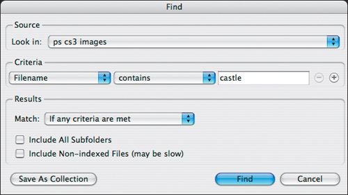 Searching for files | Step-by-Step: Using Bridge in Photoshop CS3