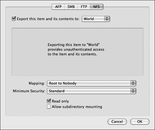 Configuring NFS | Mac OS X Server Essentials v10 6: Using