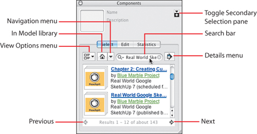Using the Component Browser | Real World Google SketchUp