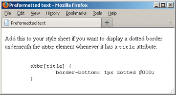 Using Preformatted Text | Working with Text in HTML5 | Peachpit