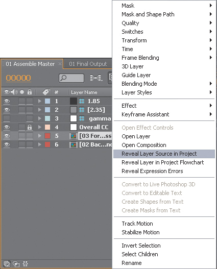How to Optimize Projects in Adobe After Effects CS5 > Nested