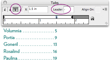 Right-aligned tabs with leaders | Working withTabs and