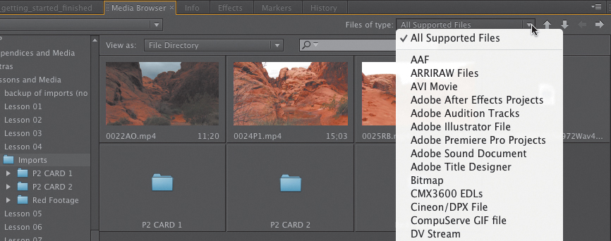 Importing Media into Adobe Premiere Pro | Importing Files