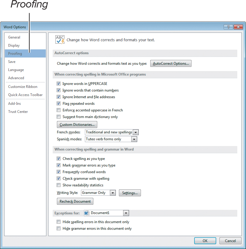 Using the Proofing Tools | Getting Started with Word 2013