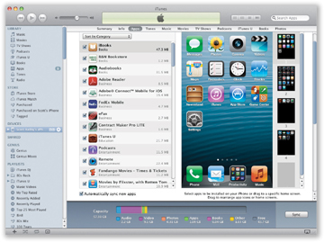 Using iTunes to Arrange Home Screen Icons