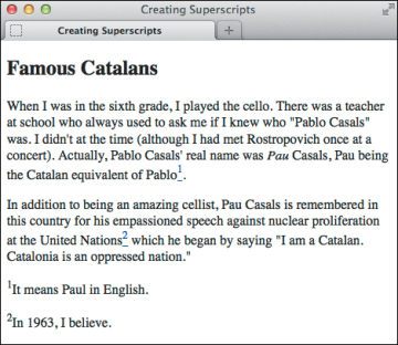 Creating Superscripts and Subscripts | Working with Text in HTML ...