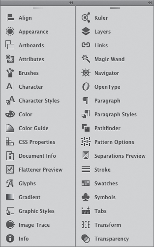 Working with Panels in Illustrator CC | The Illustrator panels ...