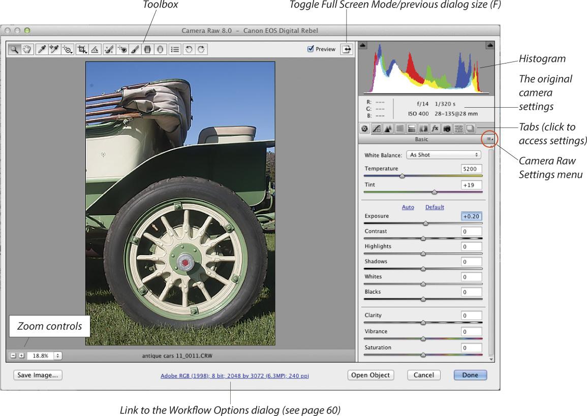 Opening photos into Camera Raw | Using Camera Raw with Adobe