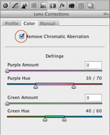 Using the Lens Corrections tab | Using Camera Raw with Adobe