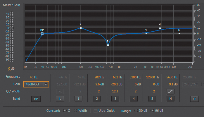 Filter and EQ effects > Signal Processing in Adobe Audition CC